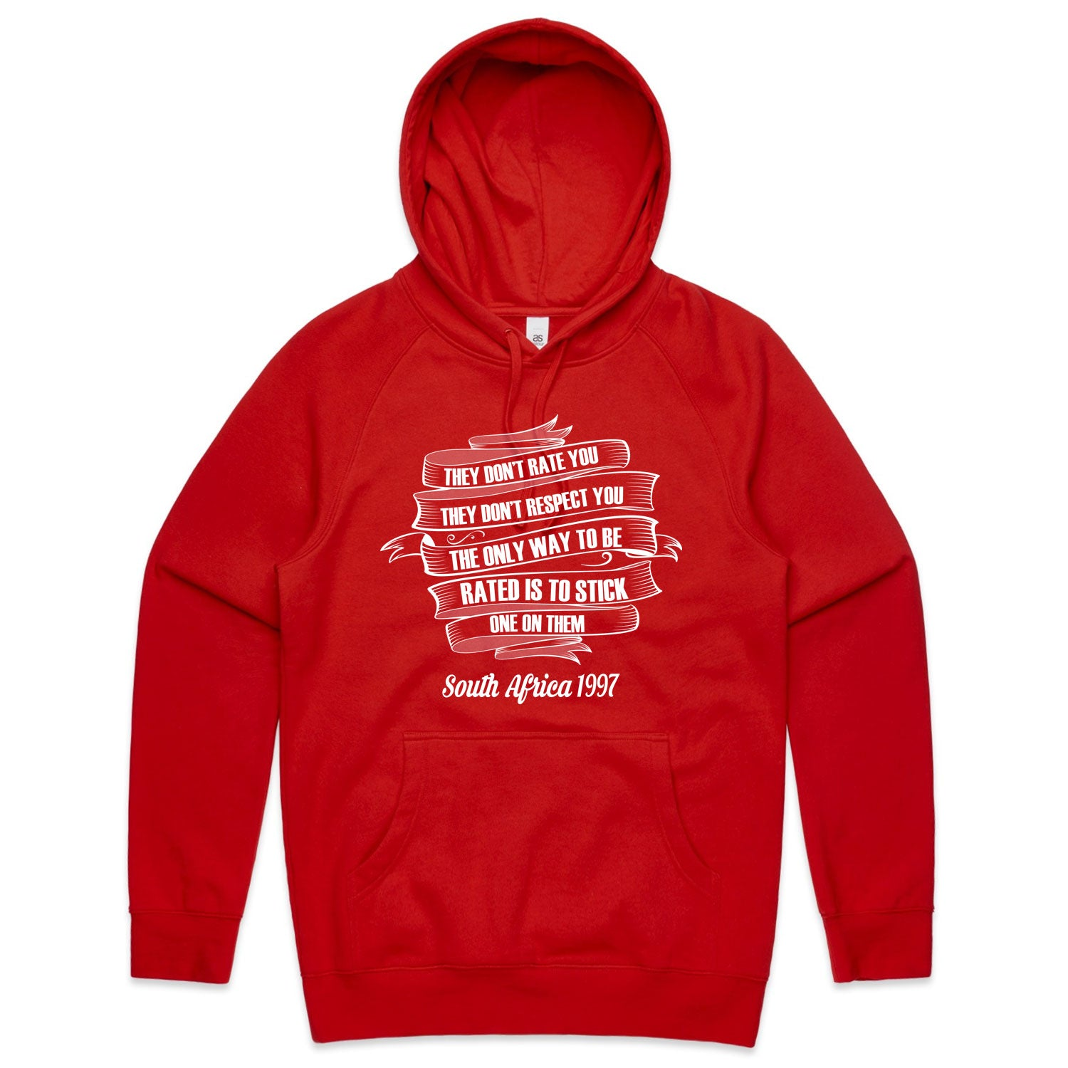 Unisex They Don't Respect You Rugby Hoody - First XV rugbystuff.com