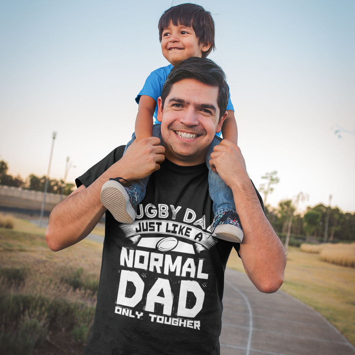 Rugby Dad, Just Like A Normal Dad Only Tougher Tee - First XV rugbystuff.com