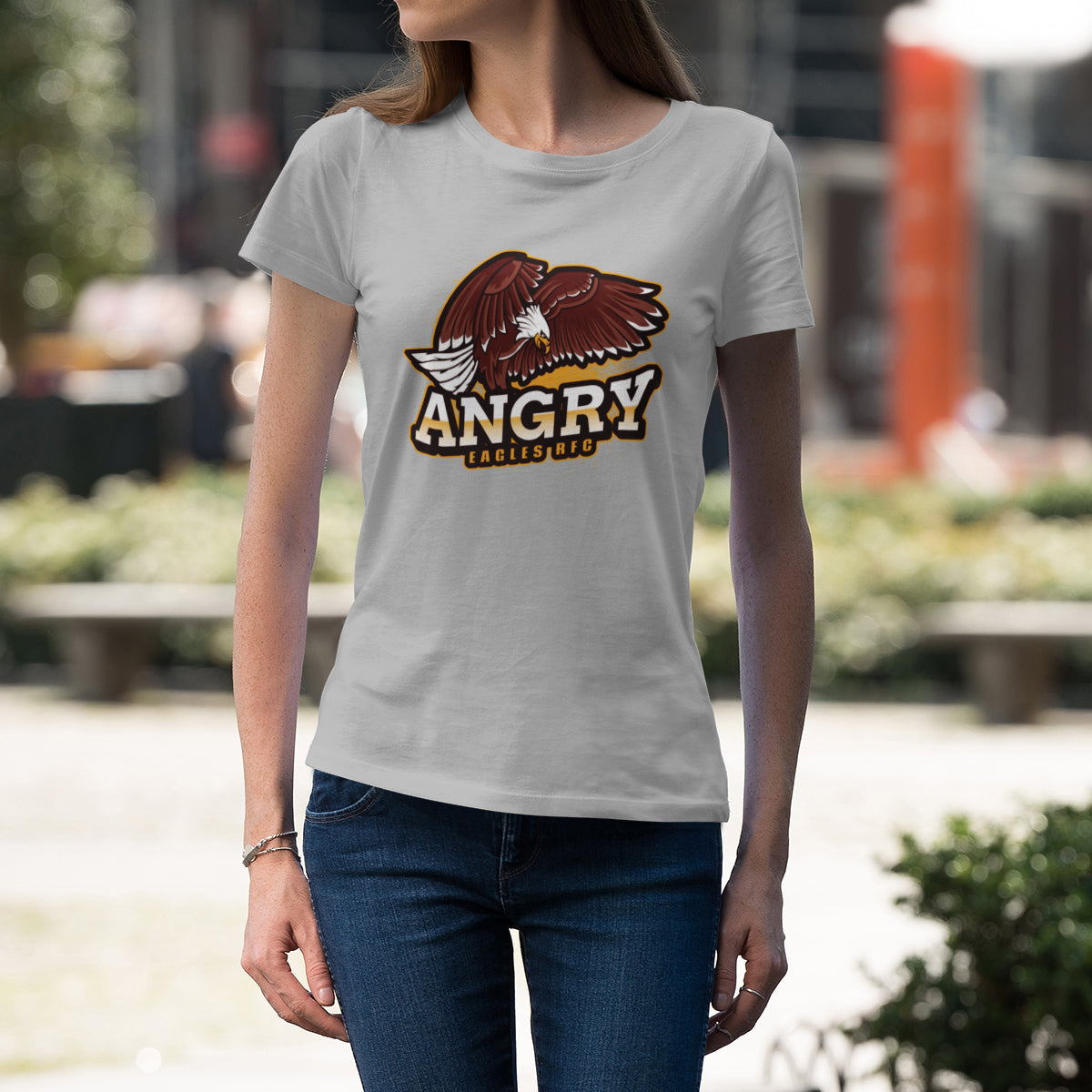 Women's Angry Eagles RFC Big Logo Tee