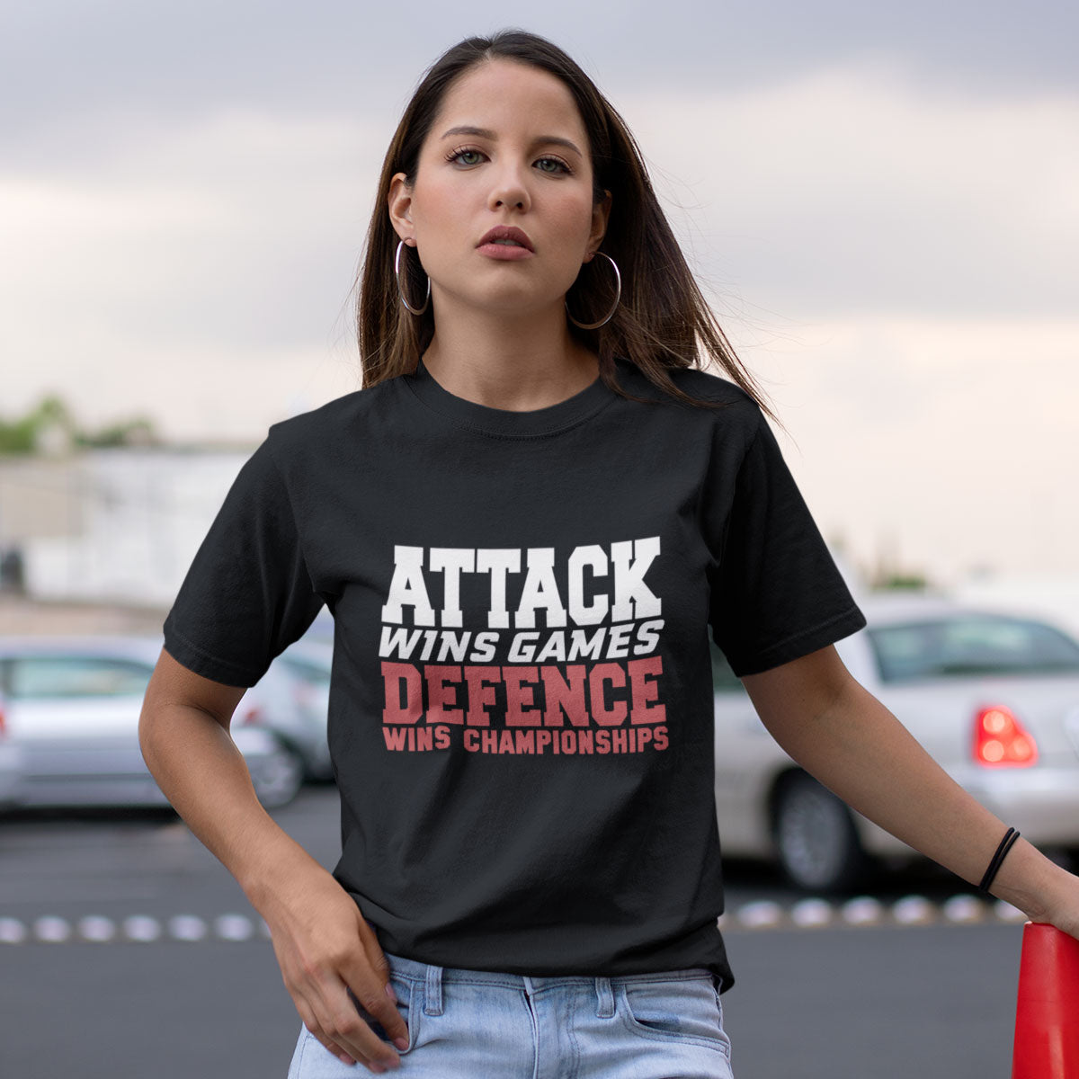Women's Attack Wins Games, Defence Wins Championships Rugby Tee