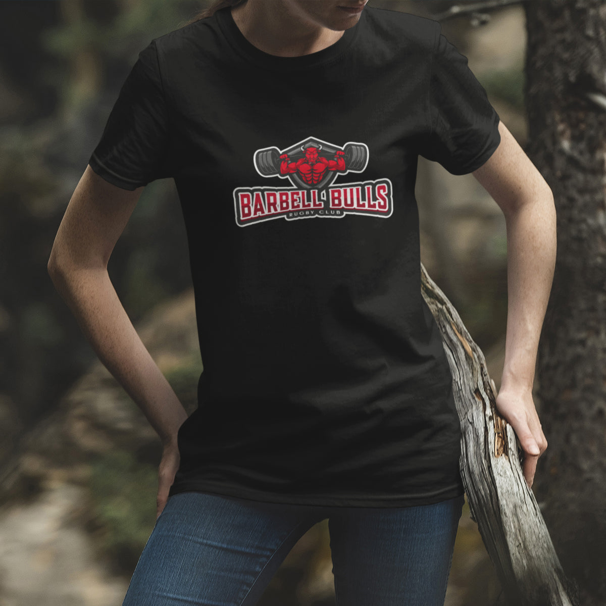 Women's Barbell Bulls Big Logo Tee