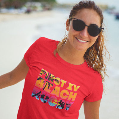 Women's Beach Rugby Tee - First XV rugbystuff.com