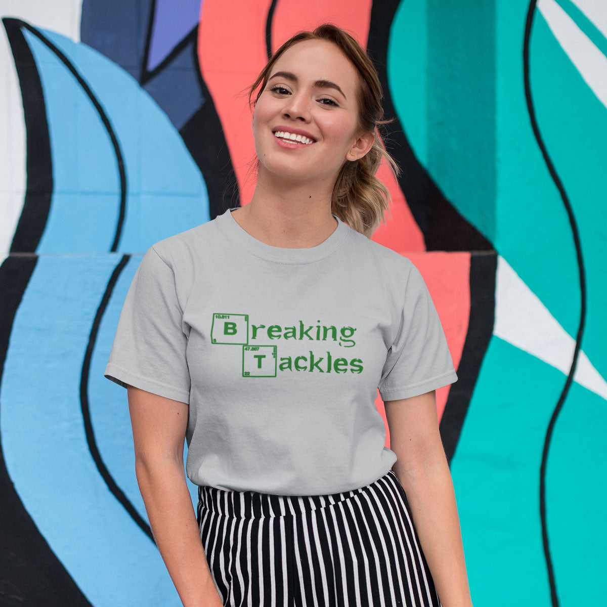 Women's Breaking Tackles Rugby Tee