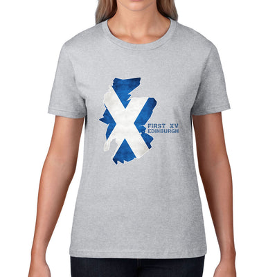 Women's First XV, Edinburgh, Scotland Map Tee