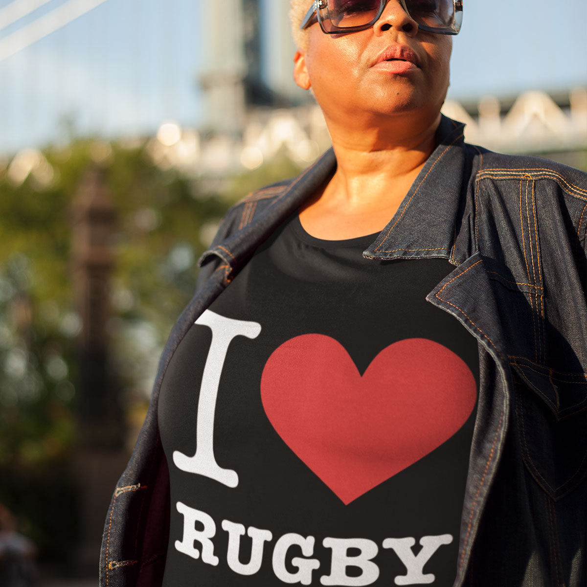 Women's I Love Rugby Tee - First XV rugbystuff.com