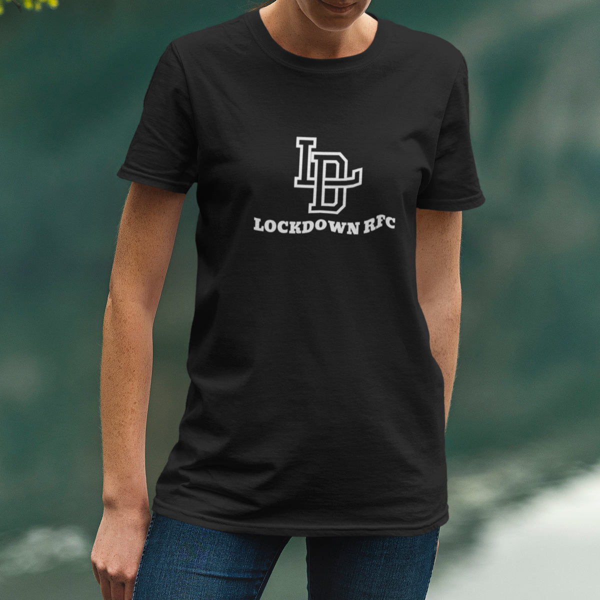 Women's Lockdown RFC Big Crest Rugby Tee - First XV rugbystuff.com