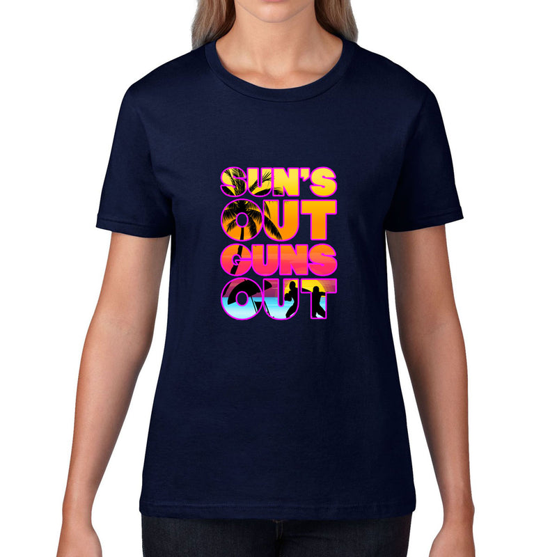 Women's Sun's Out, Guns Out Rugby Tee - First XV rugbystuff.com