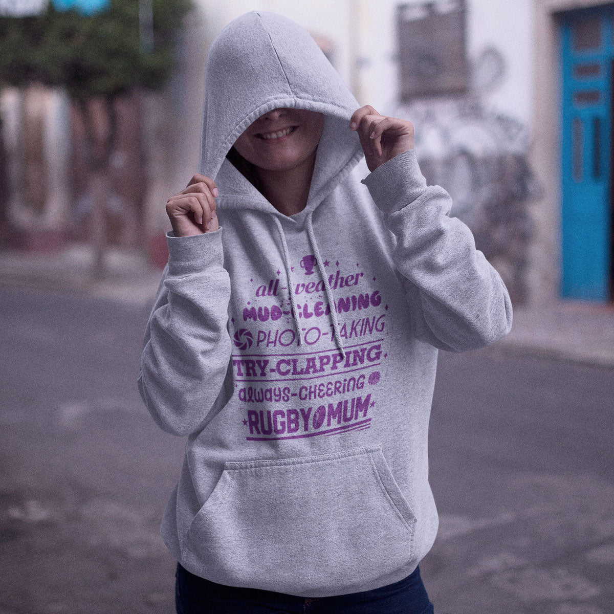 Women's All Weather Rugby Mum Hoody - First XV rugbystuff.com
