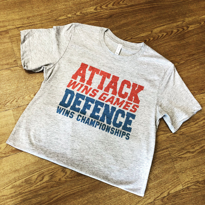 Attack Wins Games, Defence Wins Championships Rugby Tee - First XV rugbystuff.com
