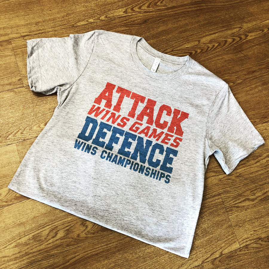 Attack Wins Game, Defence Wins Championships Rugby Tee