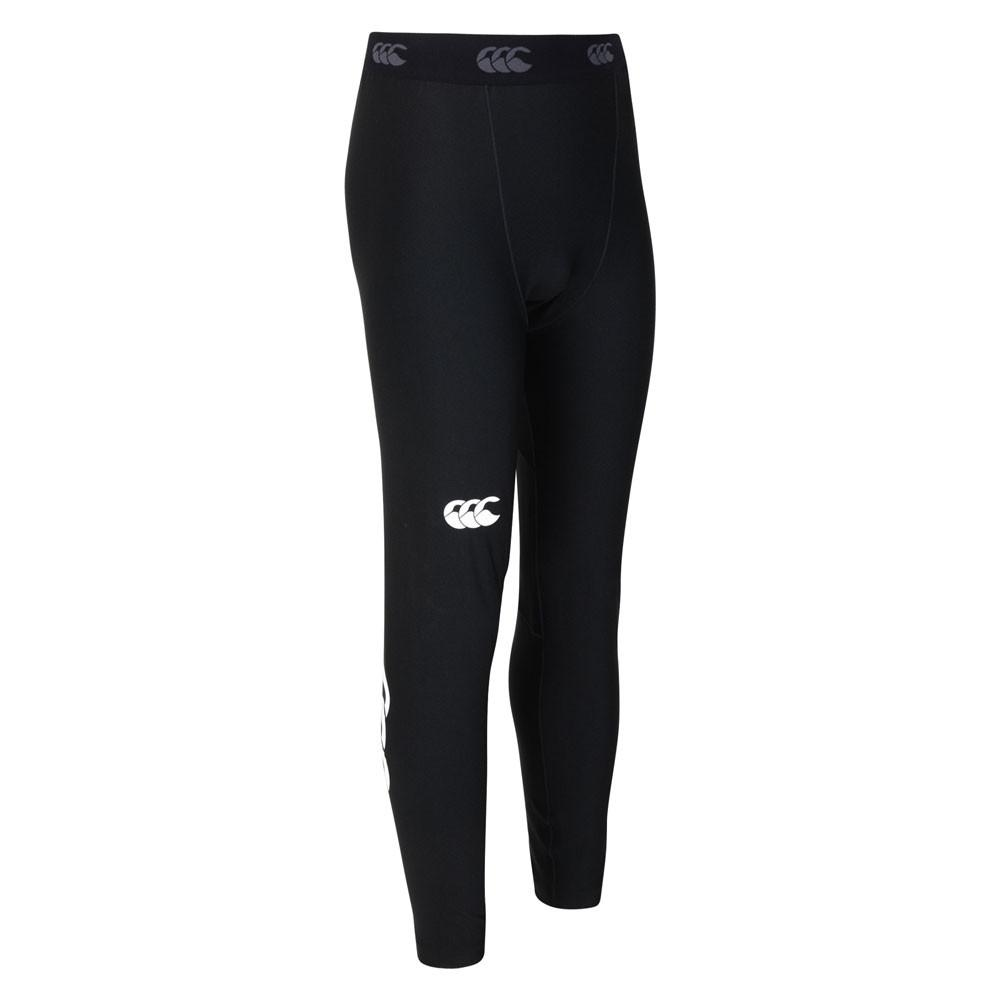 Kid's Thermoreg Baselayer Leggings Black - First XV rugbystuff.com