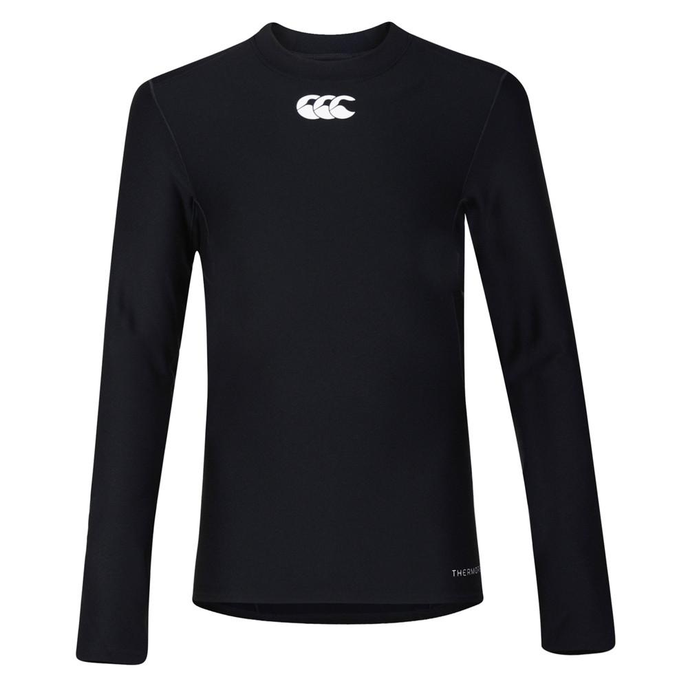 Kid's Thermoreg Baselayer Long Sleeve Black - First XV rugbystuff.com