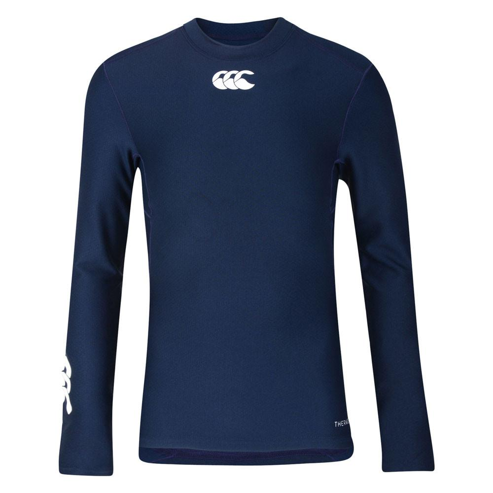 Kid's Thermoreg Baselayer Long Sleeve Navy - First XV rugbystuff.com