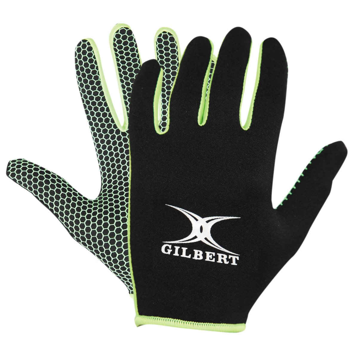 Kid's Atomic Full Finger Rugby Grip Mitt Black - First XV rugbystuff.com