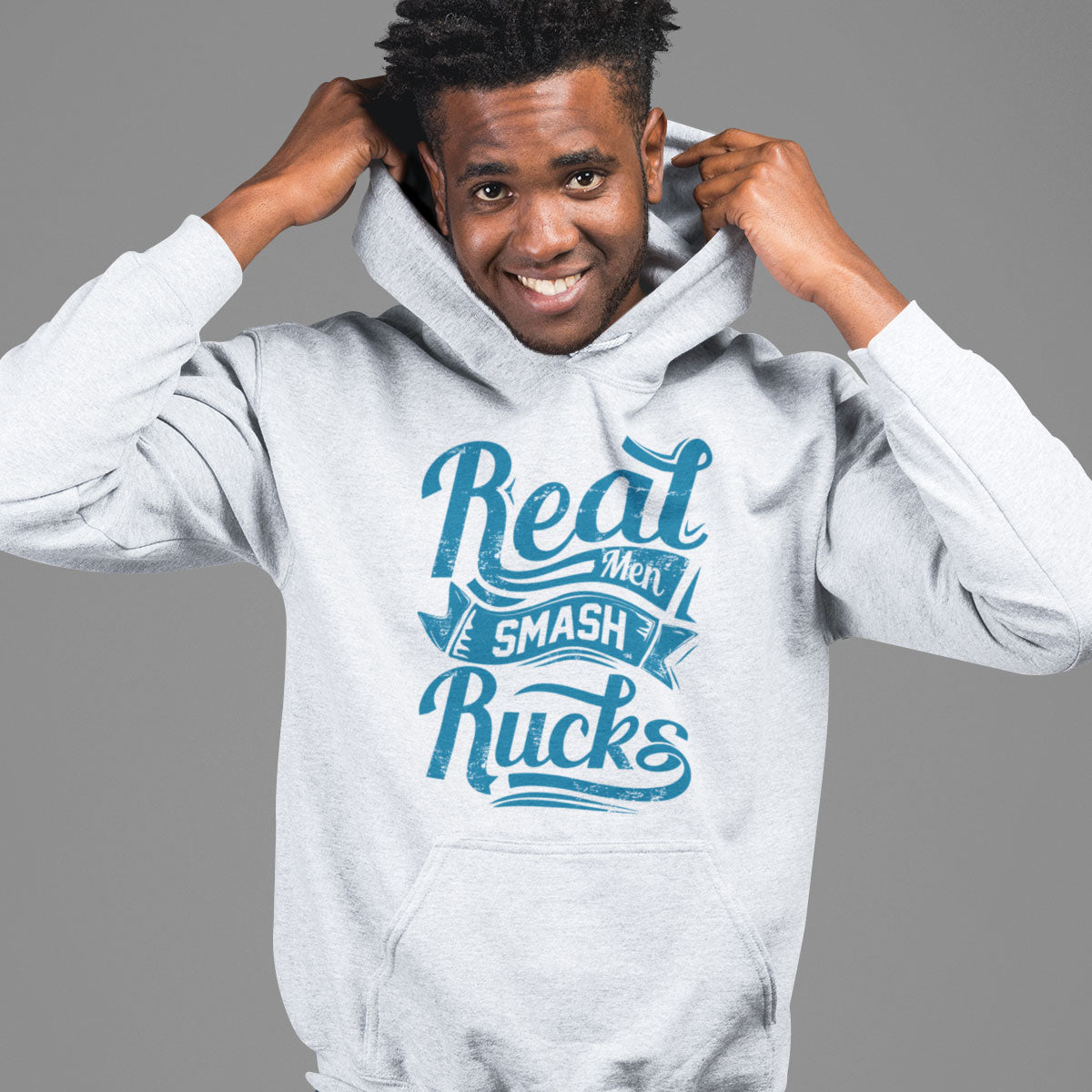 Real Men Smash Rucks Rugby Hoody - First XV rugbystuff.com