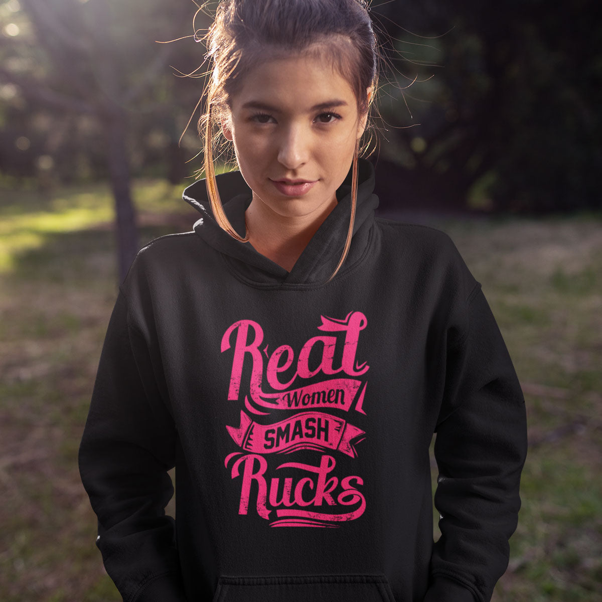 Real Women Smash Rucks Rugby Hoody