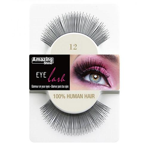 Amazing Shine Amazing Shine Human Hair False Eyelashes 12 - MUOBU
