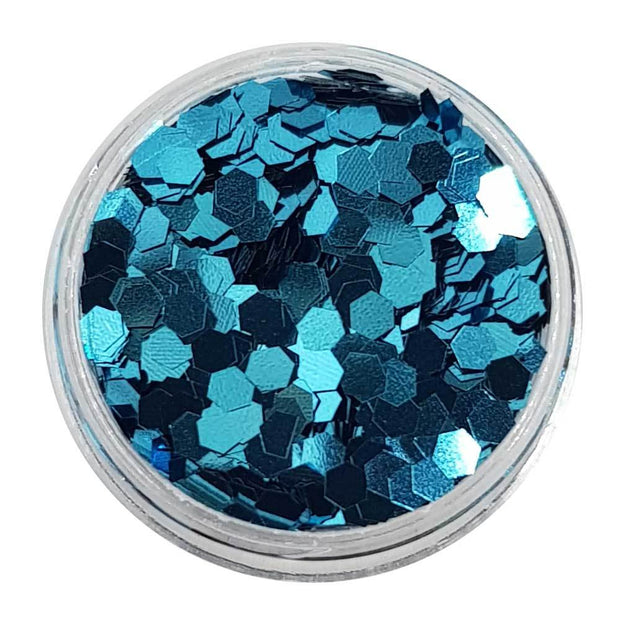 MUOBU Cobalt Blue Chunky Glitter (Metallic Glitter Mini Hexagons) - True Blue - MUOBU
