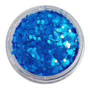 MUOBU Bright Blue Chunky Glitter (Neon UV Glitter Mini Hexagons) - Monday Blues - MUOBU