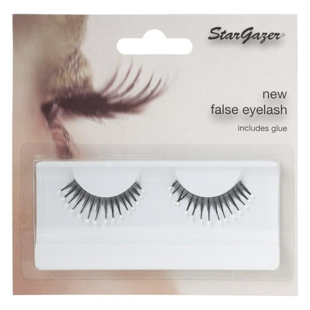 Stargazer Feather Festival False Lashes 39 - Black With White Beads - MUOBU