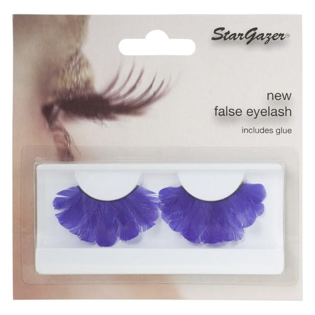 Stargazer Feather Festival False Lashes 47 - Purple Feathers - MUOBU