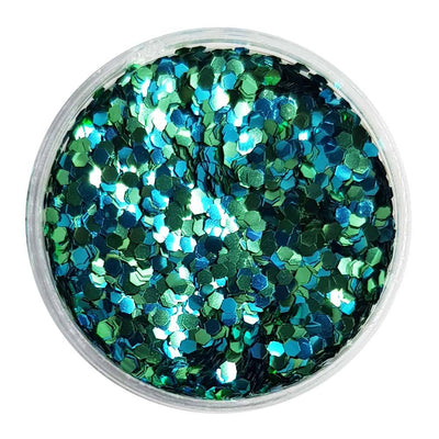 MUOBU Biodegradable Blue & Green Glitter (Mini Hexagon Metallic Glitter) - BioAquacadabra - MUOBU