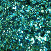 MUOBU Biodegradable Blue & Green Festival Glitter (Metallic Chunky Glitter Mix) - BioAquarius - MUOBU