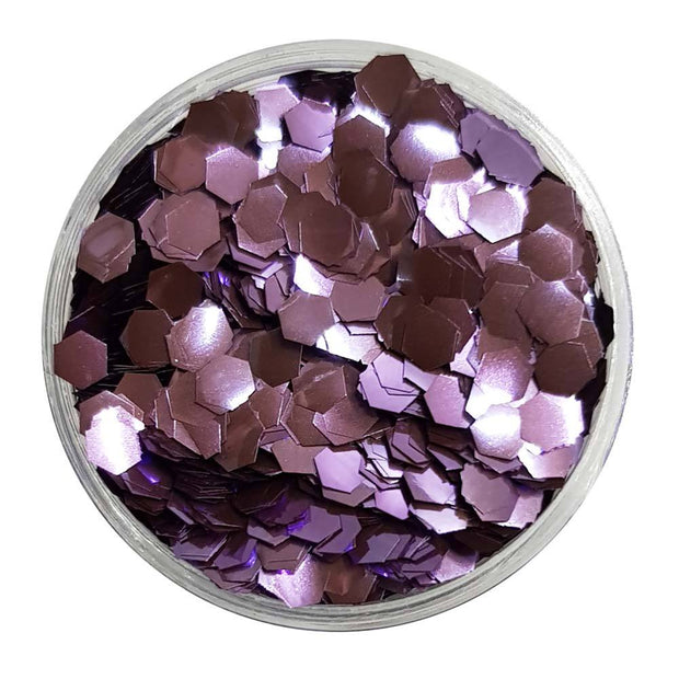 MUOBU Biodegradable Lilac Glitter (Chunky Hexagon Metallic Glitter) - BioLilac Love - MUOBU