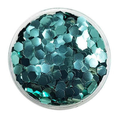 MUOBU Biodegradable Turquoise Glitter (Chunky Hexagon Metallic Glitter) - BioMermaid Scales - MUOBU