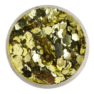 MUOBU Biodegradable Gold Festival Glitter (Metallic Chunky Glitter Mix) - BioMidas - MUOBU