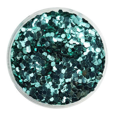 MUOBU Biodegradable Turquoise Glitter (Mini Hexagon Metallic Glitter) - BioMini Mermaid - MUOBU