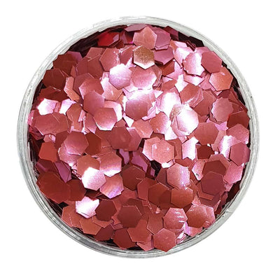 MUOBU Biodegradable Pink Glitter (Chunky Hexagon Metallic Glitter) - BioCherry Blossom - MUOBU