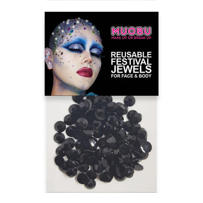 MUOBU Black Diamantes - Face & Body Gems 6mm - MUOBU