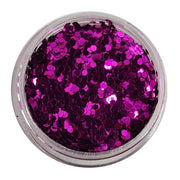 MUOBU Purple Chunky Glitter (Metallic Glitter Mini Hexagons) - Bleeding Heart - MUOBU