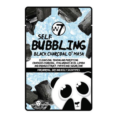 W7 W7 Self-Bubbling Black Charcoal O2 Face Mask - MUOBU