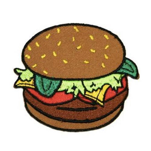 MUOBU Burger Iron-On Festival Patch - MUOBU