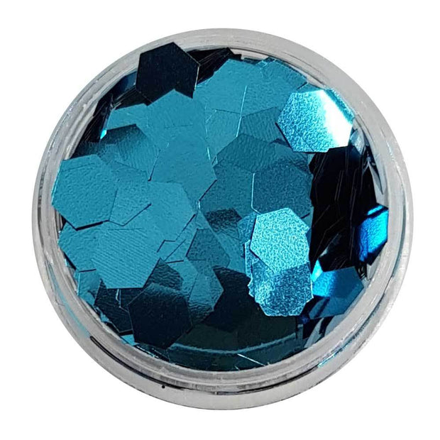 MUOBU Ice Blue Large Flake Glitter (Metallic Glitter Hexagons) - Cold As Ice - MUOBU