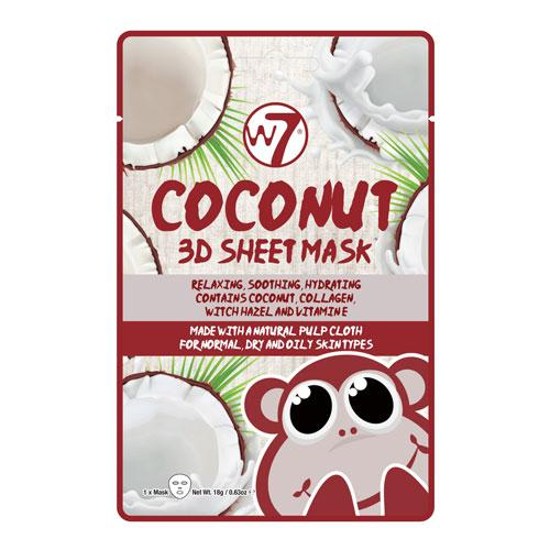W7 W7 Coconut 3D Sheet Face Mask - MUOBU