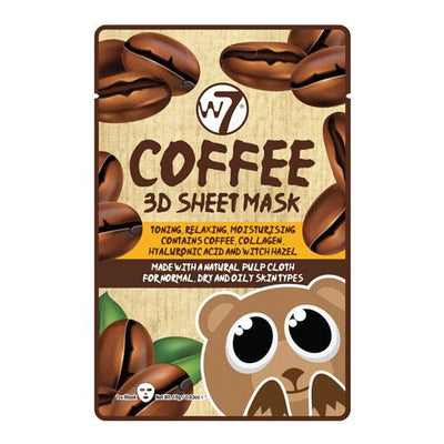 W7 W7 Coffee 3D Sheet Face Mask - MUOBU