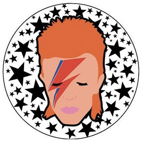 MUOBU David Bowie Stars Small Pin Badge - MUOBU