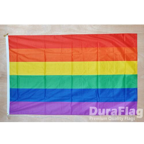 MUOBU Gay Pride Rainbow Flag (5ft x 3ft Duraflag®) - MUOBU