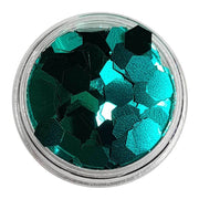 MUOBU Emerald Green Large Flake Glitter (Metallic Glitter Hexagons) - Man Behind The Curtain - MUOBU