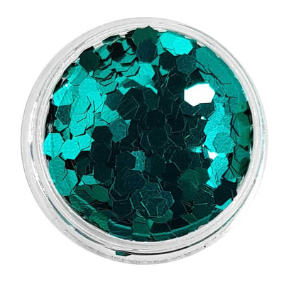 MUOBU Green Chunky Glitter (Metallic Glitter Mini Hexagons) - Green Goddess - MUOBU
