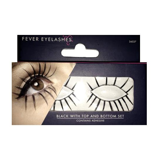 Smiffys Fever Eyelashes - Spider Effect False Lashes - MUOBU
