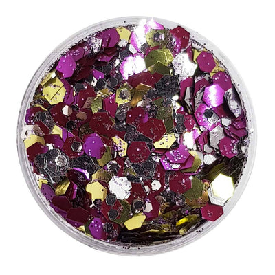 MUOBU Biodegradable Mixed Festival Glitter (Metallic Chunky Glitter Mix) - BioGalactic - MUOBU