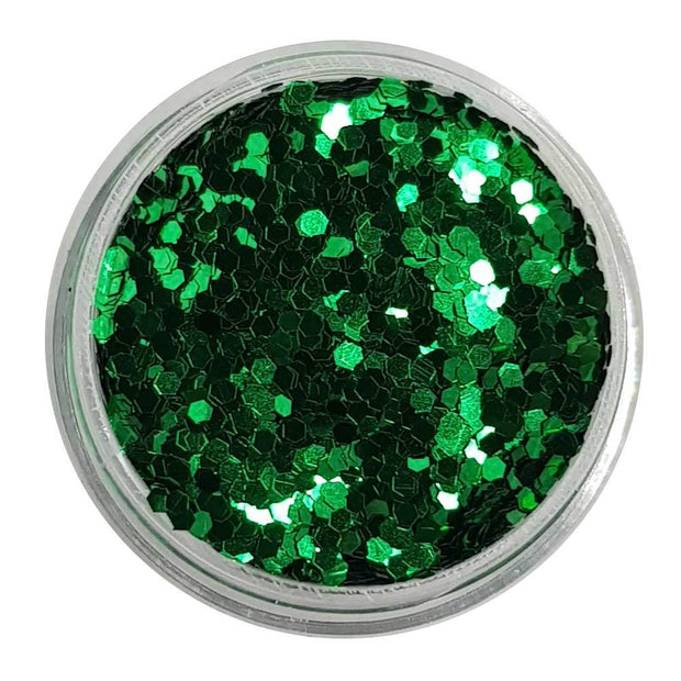 MUOBU Green Chunky Glitter (Metallic Glitter Mini Hexagons) - Goblin Tears - MUOBU