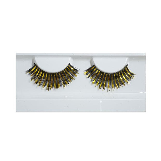 MUOBU Festival False Lashes - Black & Gold Foil - MUOBU