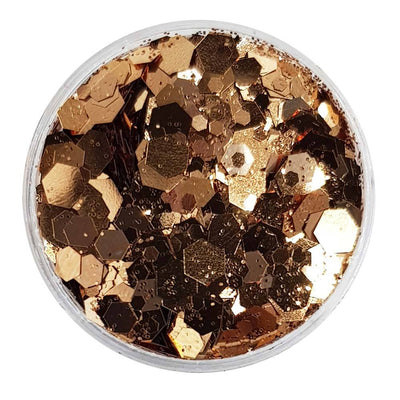 MUOBU Rose Gold Festival Glitter (Metallic Chunky Glitter Mix) - Goldilocks & The 3 Bears - MUOBU