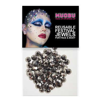 MUOBU Graphite Diamantes - Metallic Face & Body Gems 6mm - MUOBU