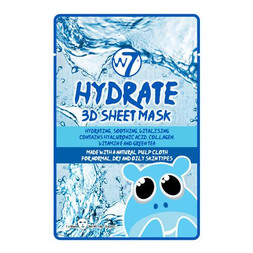 W7 W7 Hydrate 3D Sheet Face Mask - MUOBU